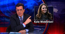 Colbert Report: ThreatDown - Flu, Kate Middleton, Vomiting Robots, Superintelligent Gonorrhea, Bears