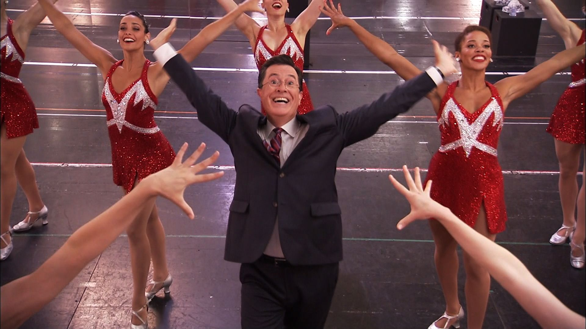 "Colbert Makes ""Get Lucky"" Music Video"